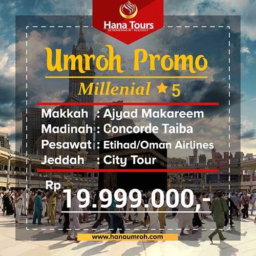 promo millenial bintang 5 hana tour