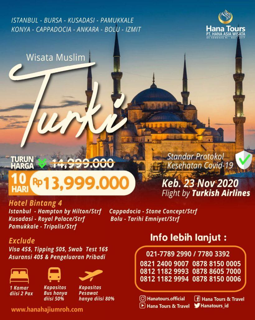 wisata halal turki promo turun harga termurah